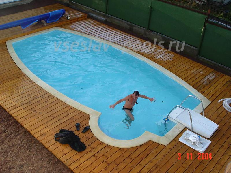 Овальный бассейн 8 на 4